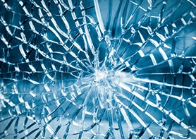 Toughened safety glass breaks into smaller pieces